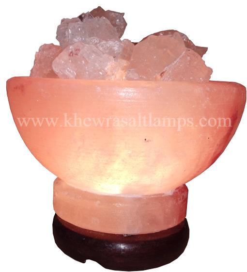 Salt Bowl With Crystal–Lamp