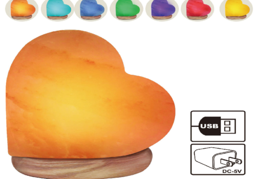 Heart Shape Salt Lamp (USB)
