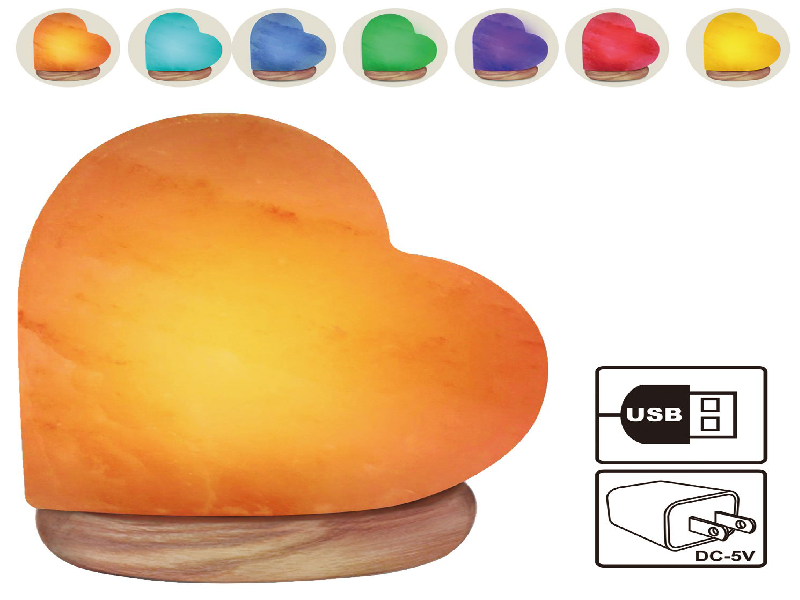 Heart Shape Salt Lamp (USB)