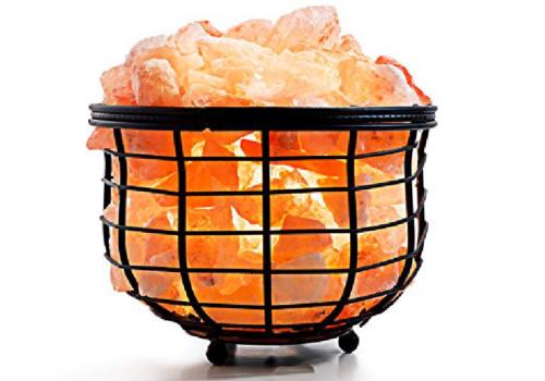 Bowl Iron Salt Basket Lamp