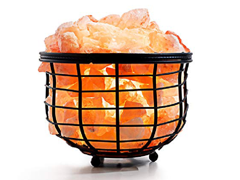 Bowl Iron Salt Basket Lamp