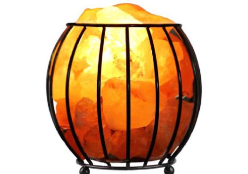Iron Salt Basket Lamp