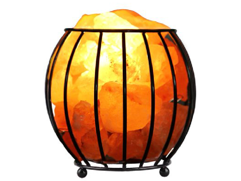 Iron Salt Basket Lamp