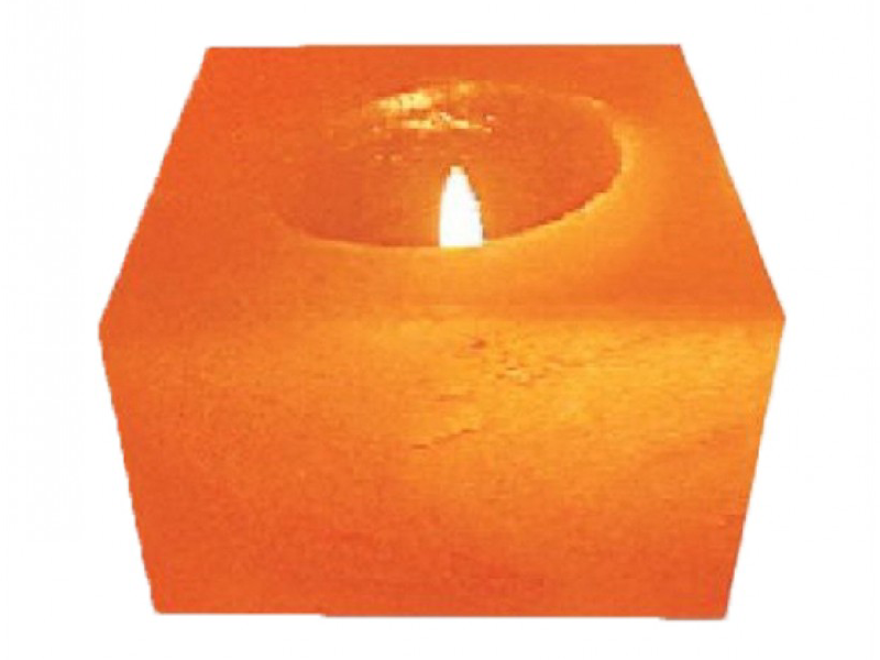 Cube Natural Candle Holder