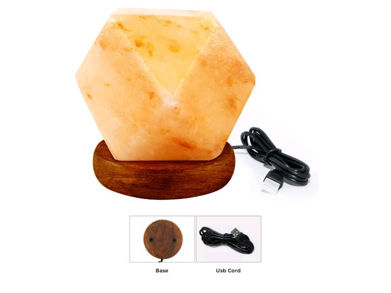 Diamond Shape Salt Lamp (USB)