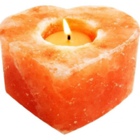 Khewra Heart Candle Holder