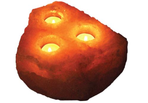 Khewra Natural (03 Holes) Candle Holder