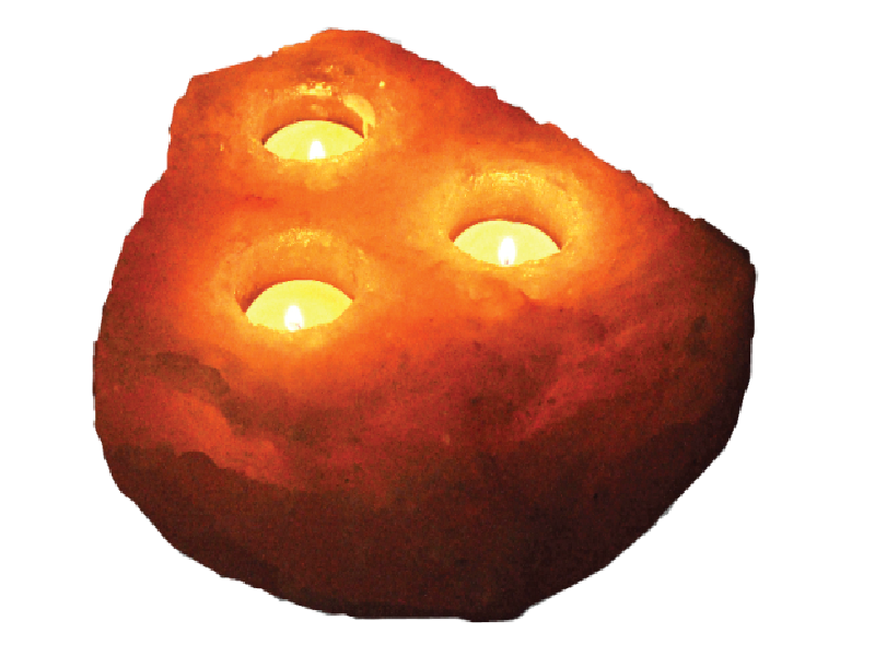 Khewra Natural (03 Holes) Candle Holder