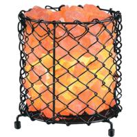 Net Iron Salt Basket Lamp