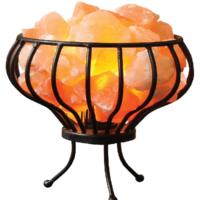 Oval Iron Salt Basket Lamp
