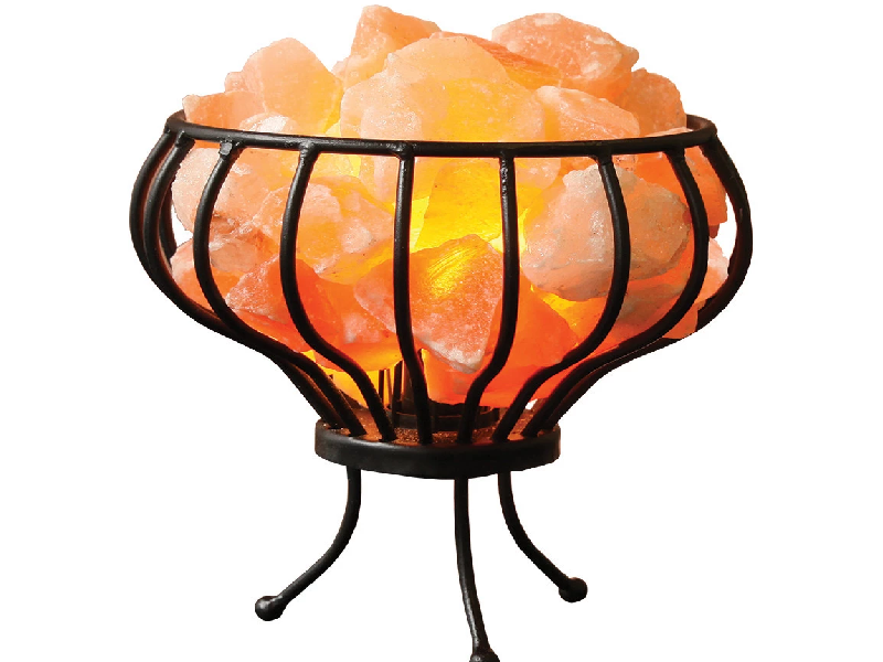 Oval Iron Salt Basket Lamp